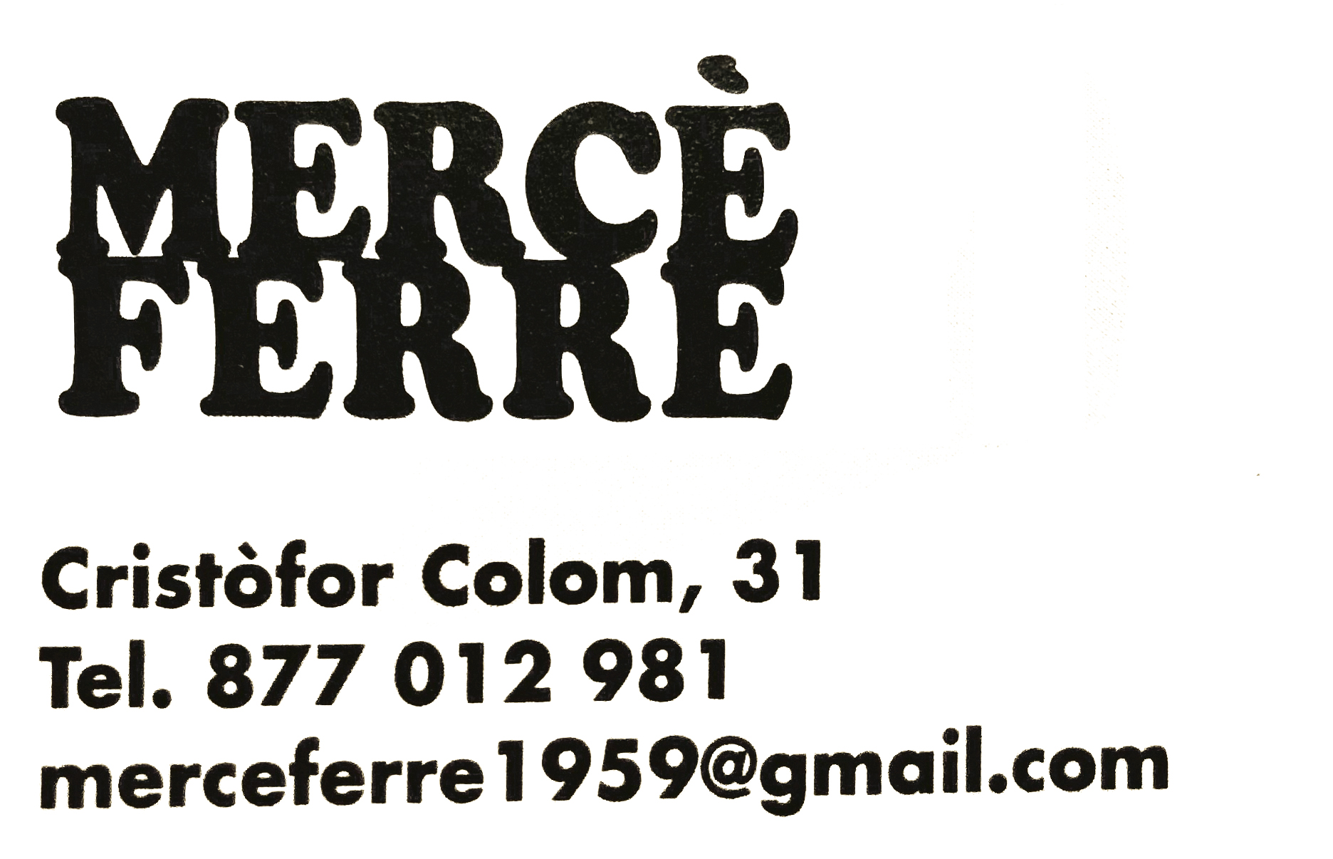 Logo comerç Mercé Ferré